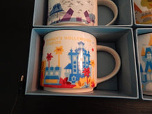 Load image into Gallery viewer, Starbucks Disney Parks Set of 4 Mugs Epcot Magic Kingdom Hollywood Studios Animal Kingdom You Are Here Collection by Disney