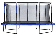 Load image into Gallery viewer, Upper Bounce Easy Assemble Mega 8' X 14' Rectangular Trampoline, with Fiber Flex Enclosure System - Thrilling colors to add spunk and life to your backyard