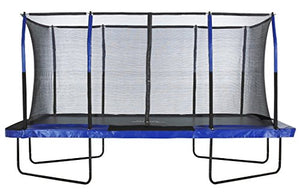 Upper Bounce Easy Assemble Mega 8' X 14' Rectangular Trampoline, with Fiber Flex Enclosure System - Thrilling colors to add spunk and life to your backyard
