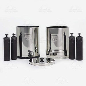 Berkey Bk4X4-Bb Big Berkey Stainless Steel Water Filtration System With 4 Black Filter Elements
