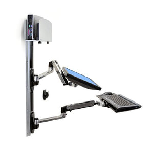 Ergotron LX Wall Mount System with Medium CPU Holder - Silver