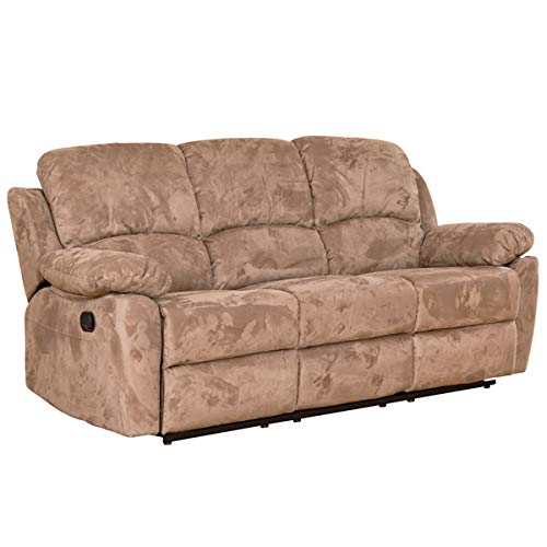 Constance Luxury Fabric Recliner Sofa Suite - Different Configurations and 3 Colours Available (Light Brown, 3+1+1 Sofa suite)