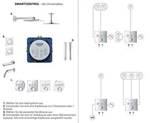 Load image into Gallery viewer, Grohtherm SmartControl Perfect Shower Set | Square | 3 Valves