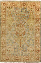 Load image into Gallery viewer, Diva At Home 9' x 13' Autumnal Leaves Rust and Green Hand Knotted Wool Area Throw Rug