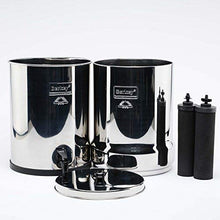 Load image into Gallery viewer, Imperial Berkey IMP6X2-BB Stainless Steel Water Filtration System with 2 Black Filter Elements