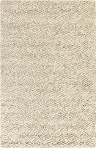 Diva At Home 5' x 8' Fiesta Splash Olive Green and Beige Hand Woven Felted Wool Area Throw Rug