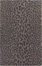 Load image into Gallery viewer, Diva At Home 12' x 15' Les Animaux Gray and Tan Cheetah Hand Tufted Wool Area Throw Rug