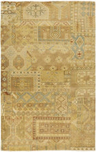 Load image into Gallery viewer, Diva At Home 8' x 11' Tlaxcala Mercado Khaki and Gold Hand Knotted New Zealand Wool Area Throw Rug