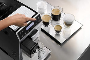 De'Longhi Autentica Cappuccino ETAM29.660.SB Bean to Cup, Silver and Black