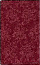 Load image into Gallery viewer, Diva At Home 9' x 13' Giant Flower Foliage Rio Red Hand Loomed Wool Area Throw Rug