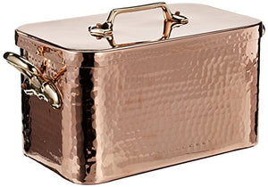 Mauviel M'Tradition Braiser and Lid 10 Litre Capacity Copper with 32 x 19 x 18 cm Tin Lining