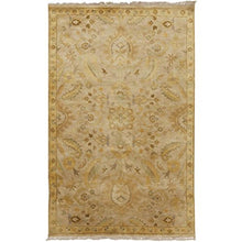 Load image into Gallery viewer, Diva At Home 2' x 3' Royal Victorian Harvest Gold and Beige New Zealand Wool Hand Knotted Area Throw Rug