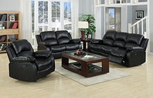 Load image into Gallery viewer, VALENCIA Black Recliner Leather Sofa Suite 3+2 Seater 12 Months warranty