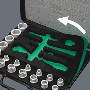 Wera 05003645001 8100 SC Zyklop Speed Ratchet Set - Silver (37-Piece)