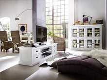 Load image into Gallery viewer, Nova Solo Large ETU with 4 Drawers, Mahogany, White, 180x45x45 cm