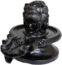 Load image into Gallery viewer, Exotic India Mukha Lingam - Black Stone Statue