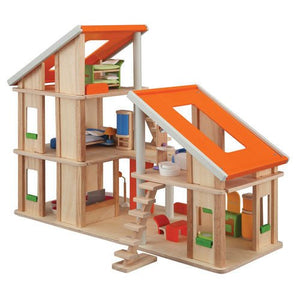 Plan Toys Classic Chalet Dollhouse With Furniture
