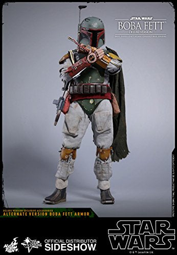 Hot Toys HT903352 Boba Fett Star Wars Episode V: The Empire Strikes Back-Movie Masterpiece Series Sixth 1/6 Scale Collectible Figure (Deluxe Version), Multi, 30 cm