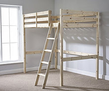 Load image into Gallery viewer, Double 4ft 6 Loft bunkbed - wooden High Sleeper - Can be used by Adults - TWO strong centre rails