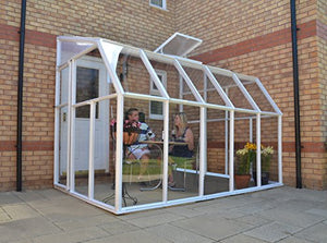 Palram Rion 6x10ft Sun Room Conservatory – White