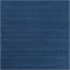 Diva At Home 9.75' x 9.75' Rogue Love Federal Blue Hand Loomed Square Wool Area Throw Rug