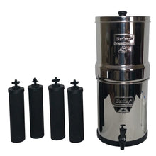 Load image into Gallery viewer, Berkey Bk4X4-Bb Big Berkey Stainless Steel Water Filtration System With 4 Black Filter Elements