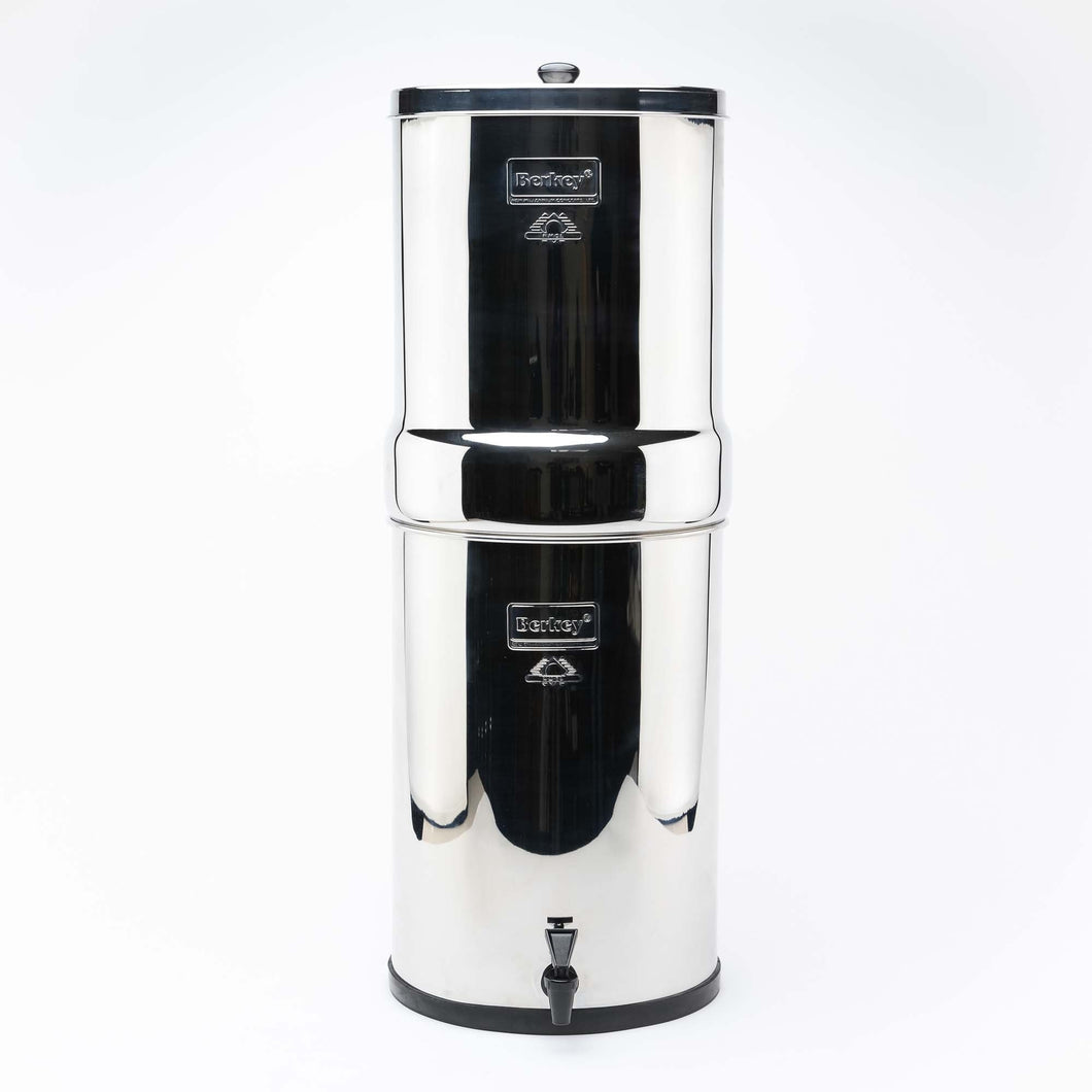 Crown Berkey Water Filter with 8 Black purifiers elements Filtration System UK (Best Gravity Based Water Filters