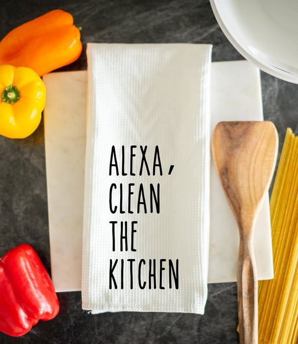 Alexa Clean The Kitchen Dish Towel