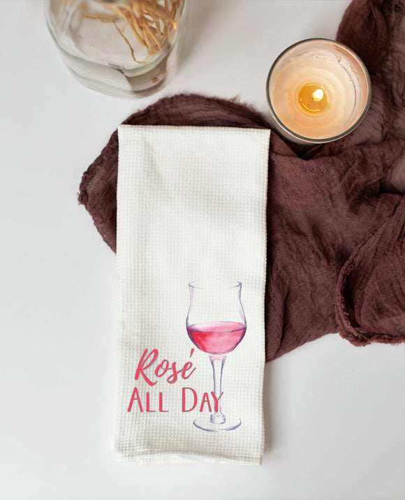 Rose All Day Kitchen Dish Towel