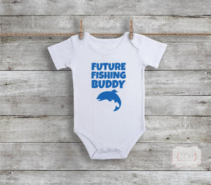 Future Fishing Buddy Baby Bodysuit