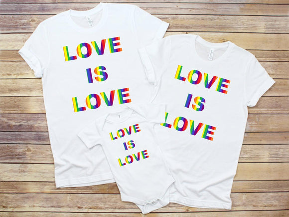 Love Is Love Family T-Shirts