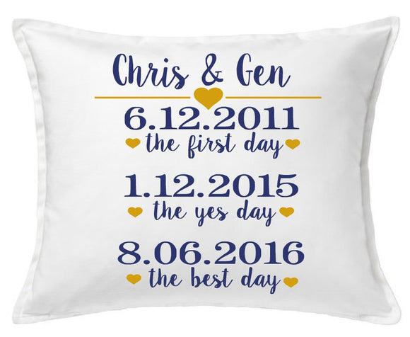 Personalized Engagement/Wedding Pillow Cover