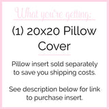 Personalized Home Pillow Cover