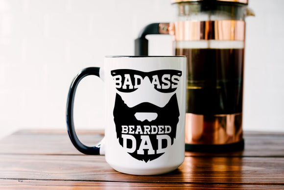 Badass Bearded Dad Mug