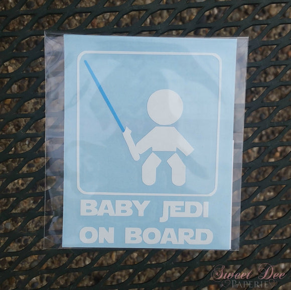 Baby Jedi On Board Vehicle Decal