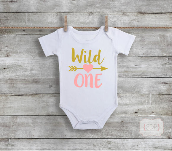 Wild One Birthday Baby Bodysuit