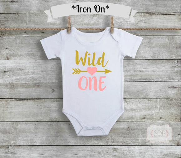 Wild One Birthday Iron On Decal