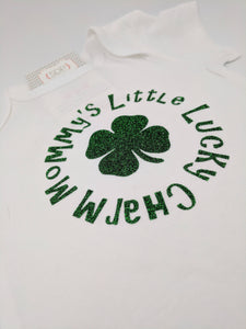 Mommy's Little Lucky Charm St. Patricks Day Baby Bodysuit