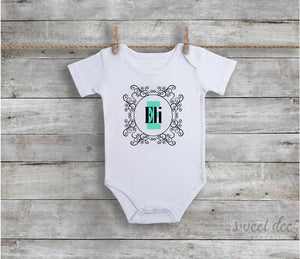 Personalized Monogram Baby Boy Bodysuit