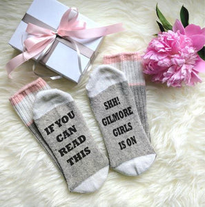 If You Can Read This, Shh! Gilmore Girls Is On Ladies Socks