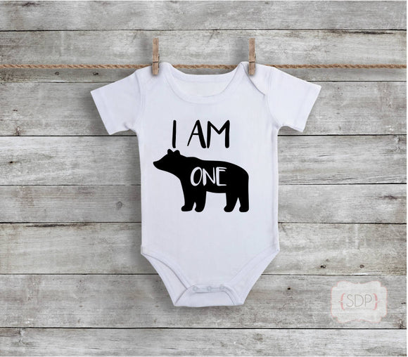 I Am One First Birthday Bodysuit