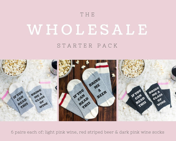 Bring me wine socks - wholesale starter pack