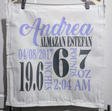 Personalized Birth Stat Pillow Cover