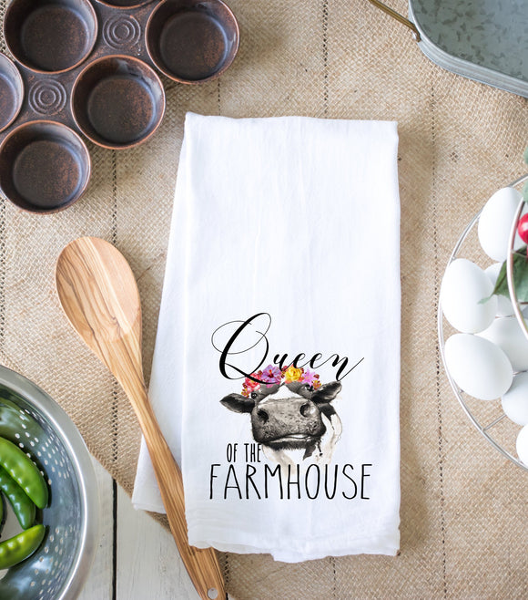 Queen of the Farmhouse Kitchen Dish Towel