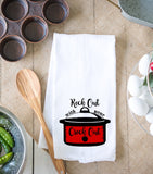 Rock Out With Your Crock Out Kitchen Dish Towel