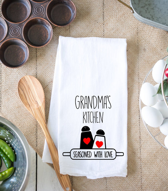 Grandmas Kitchen Seasoned With Love Kitchen Dish Towel