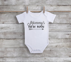 Mommy's New Man Baby Bodysuit
