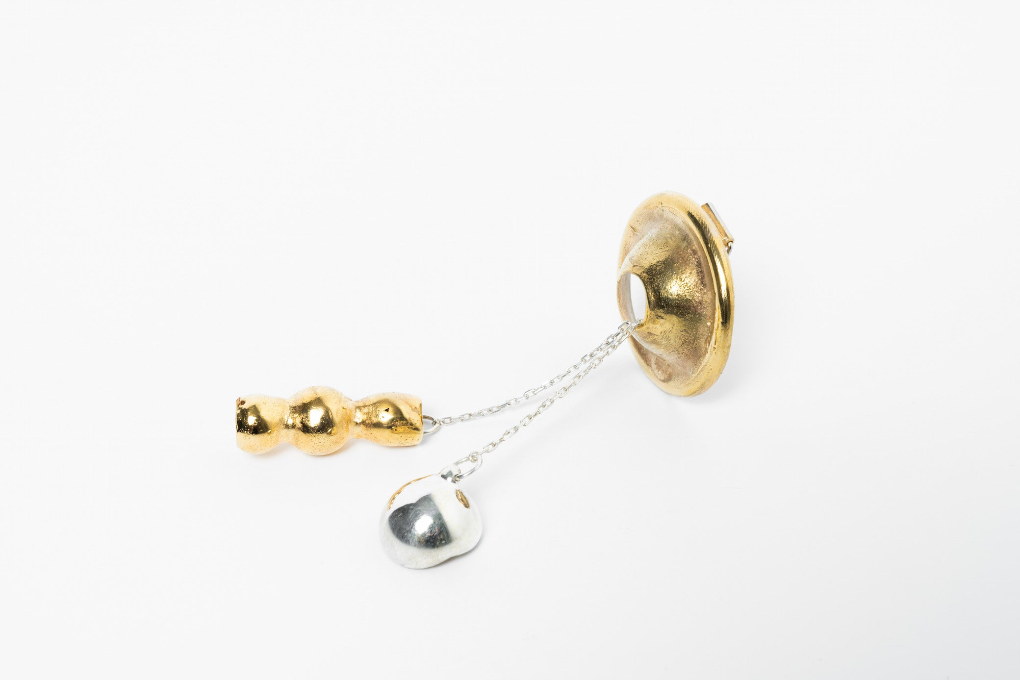 Hollow Bell Brooch Flat