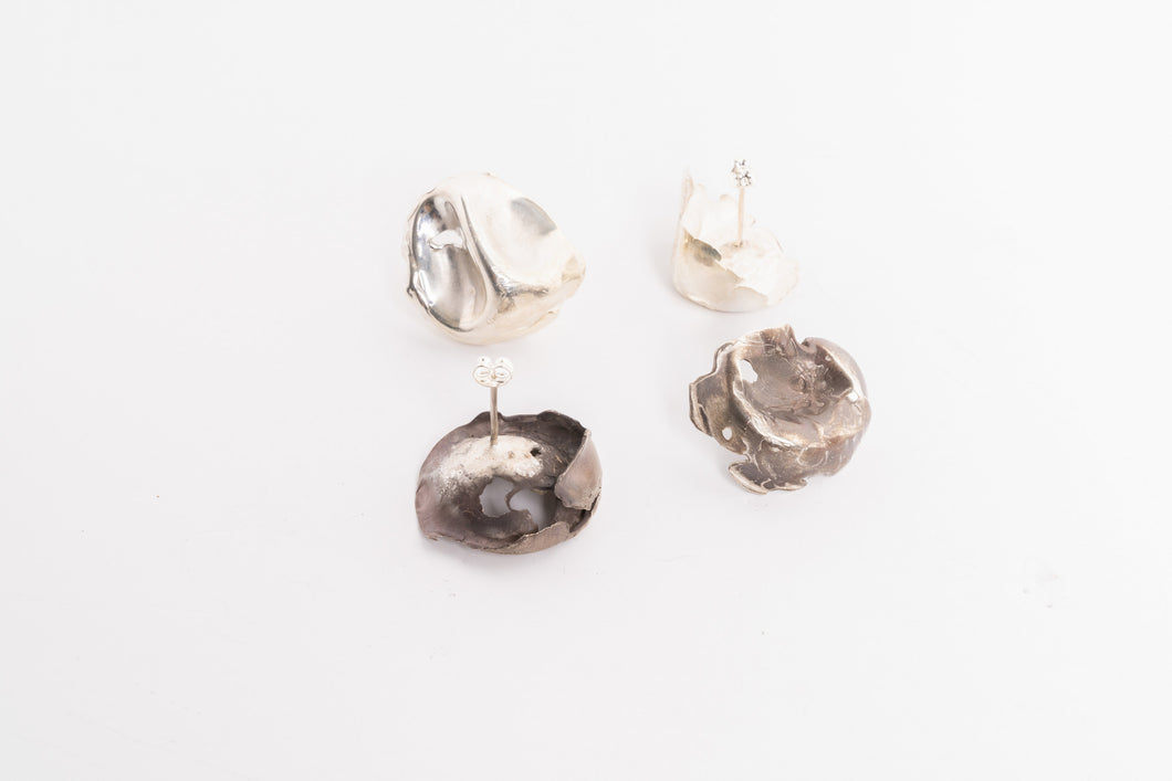 Squished Dome Stud Earring