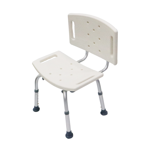 Aluminium Shower Chair With Backrest